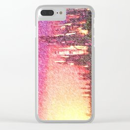 Alteran sunset Clear iPhone Case