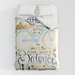 Like A Bicycle Comforters