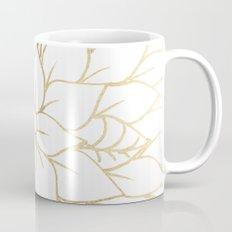 Gold faux foil chic floral elegant pattern Mug