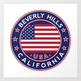 Beverly Hills, California Art Print
