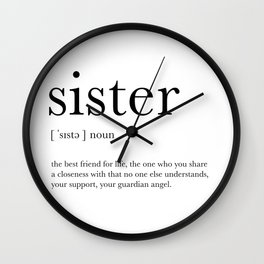 Sister Definition Wall Clock