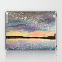 The Starry Lake, Original Watercolor Laptop & iPad Skin