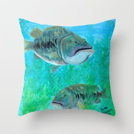 Bass Pairs Throw Pillow