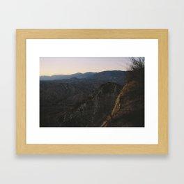 Angels National Forest, sunset no.10 Framed Art Print