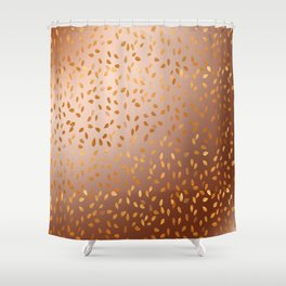 Golden Leaves in The Autumn Shower Curtain