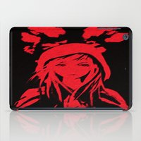 red riding hood iPad Cases featuring Miss Red riding hood  by Sammycrafts