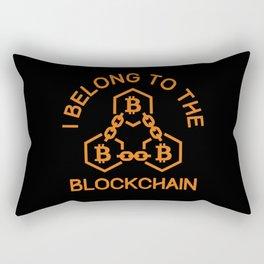 I Belong To The Blockchain BTC Investing Rectangular Pillow