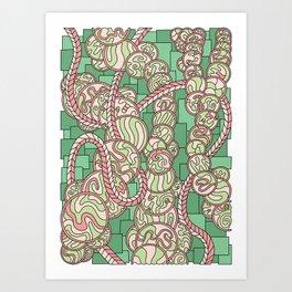 Wandering 43: color variation 2 Art Print