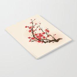 Oriental plum blossom in spring 012 Notebook