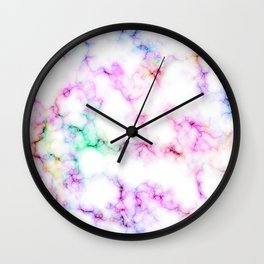 Saltwater Taffy Colored Marble Pattern Wall Clock