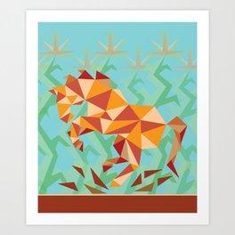 Dancing Mustang // Digital // Illustration Art Print
