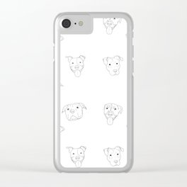 White pit bull love Clear iPhone Case