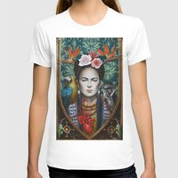 frida T-shirts featuring Frida by Sophie Wilkins