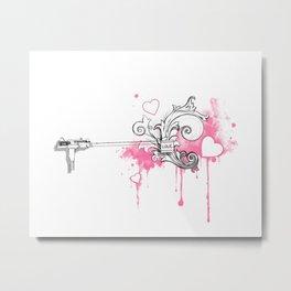 Uzi-ng Love Metal Print
