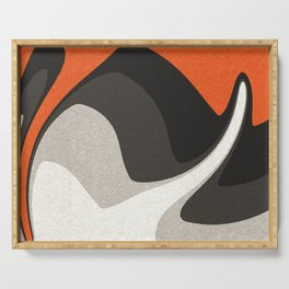 Abstract orange shapes Serving Tray