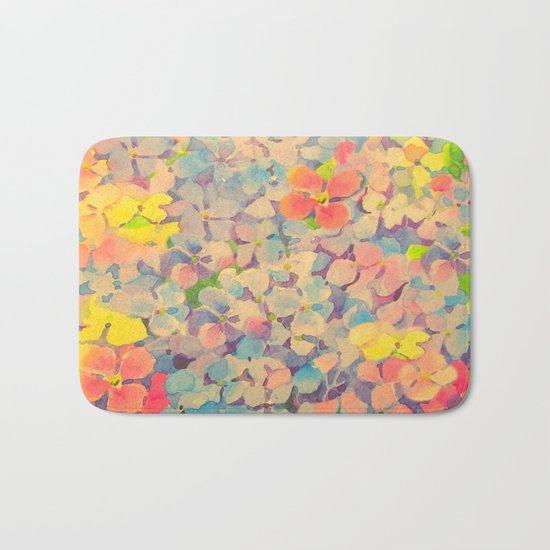 Summer Time Floral  Bath Mat