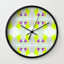 Polygon Neon Wall Clock