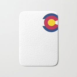 Colorado State Flag Gift Print For Proud Coloradans Bath Mat