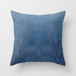 Round and About Blue Gray Throw Pillow