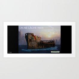 On ne lâche rien colors urban fashion culture Jacob's 1968 Paris Agency for Greenpeace Art Print