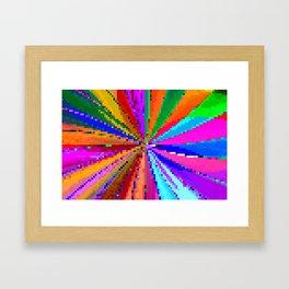 carnival de squares Framed Art Print