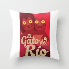Gato caleño Throw Pillow