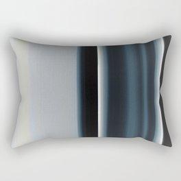 Vertical Blue and White Stripes Rectangular Pillow
