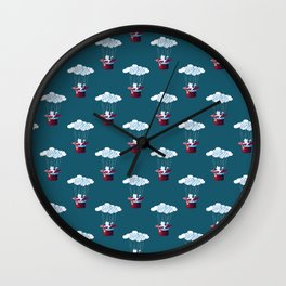 Traveler Cat Pattern Wall Clock