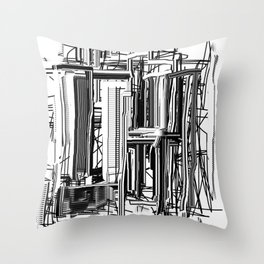 Abstract City #2 Throw Pillow