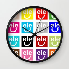 ele petti smile Wall Clock