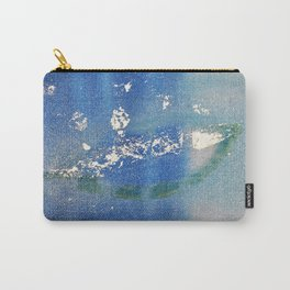 One Leaf with Silver Foil Carry-All Pouch