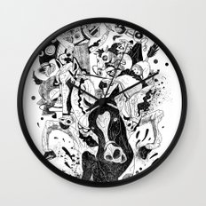 The Great Horse Race! B&W Edition Wall Clock