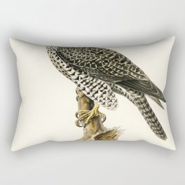 Gyrfalcon Gyr Falcon male (Falco rusticolus) illustrated by the von Wright brothers Rectangular Pillow