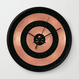 Rose Gold Target Wall Clock