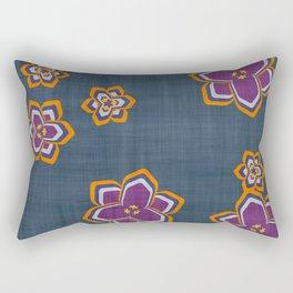 garden fantasy flowers over jeans Rectangular Pillow
