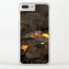 Abstract landscape nature texture lava fire geology digital illustration Clear iPhone Case