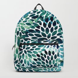 Floral Watercolor, Navy, Blue Teal, Abstract Watercolor Backpack