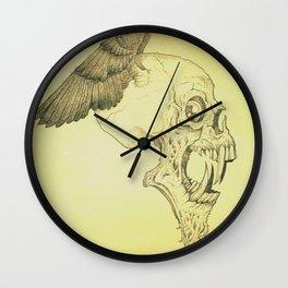 Winged Skull Wall Clock