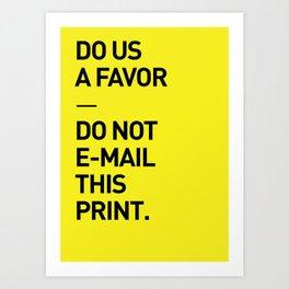 Save the planet. Art Print