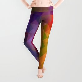 Bright Colorful Geometric Abstract Leggings