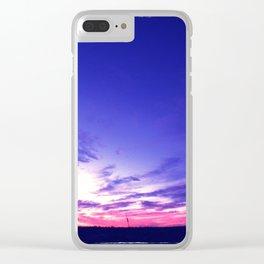 Big Sky Sunset Clear iPhone Case