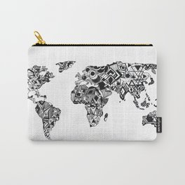 World Map in a mathematician universe Carry-All Pouch