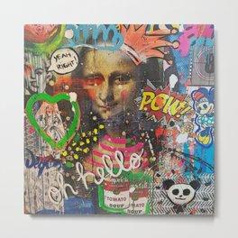Collage Explosion Metal Print