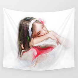 little girl Wall Tapestry