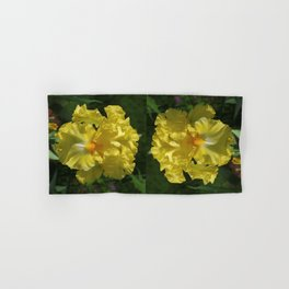 Golden Iris flower - 'Power of One' Hand & Bath Towel