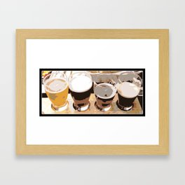 Beer   Man Cave   Beer Flight Sampler   Nadia Bonello Framed Art Print