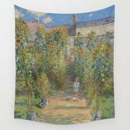 Claude Monet The Artist's Garden at Vétheuil 1880 Painting Wall Tapestry
