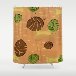 Tiki Bar Wallpaper Pattern Shower Curtain