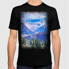 Neverland mountains Black Mens Fitted Tee MEDIUM
