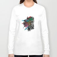 indian Long Sleeve T-shirts featuring Indian  by mark ashkenazi